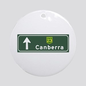 Canberra, Australia Hwy Sign Ornament (Round)