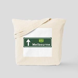 Melbourne, Australia Hwy Sign Tote Bag
