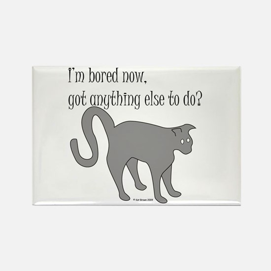 Bored Cat Rectangle Magnet