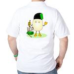 Bagpipes Back Image Golf Shirt