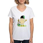 Bagpipes Women's V-Neck T-Shirt