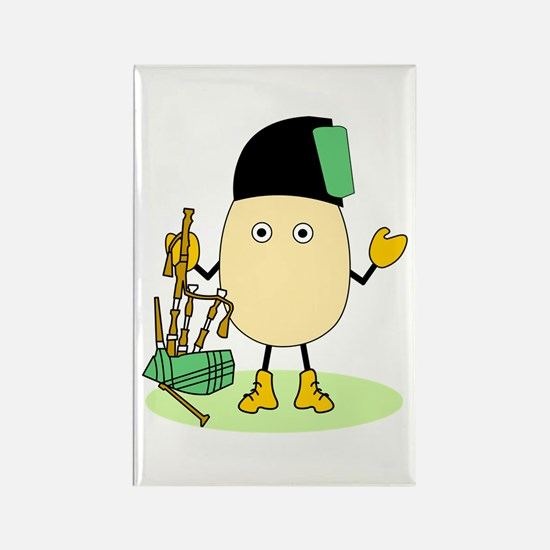 Bagpipes Rectangle Magnet