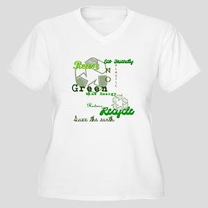 Gone Green Women's Plus Size V-Neck T-Shirt