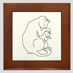 Cat & Kitten Framed Tile