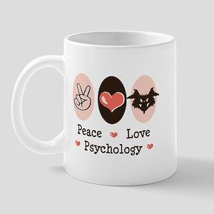 Peace Love Psychology Mug