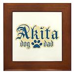 Akita Dad Framed Tile
