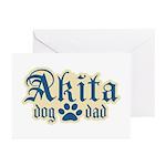 Akita Dad Greeting Cards (Pk of 10)