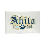 Akita Dad Rectangle Magnet (100 pack)