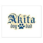 Akita Dad Small Poster