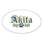 Akita Dad Sticker (Oval 10 pk)