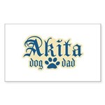 Akita Dad Sticker (Rectangle 50 pk)