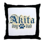 Akita Dad Throw Pillow