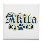 Akita Dad Tile Coaster