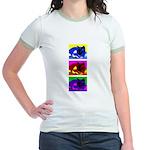 Cat art Jr. Ringer T-Shirt