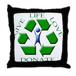 Donate Throw Pillow