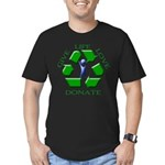 Donate Men's Fitted T-Shirt (dark)