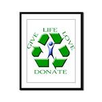 Donate Framed Panel Print