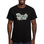 Beagle Dad Men's Fitted T-Shirt (dark)
