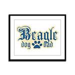 Beagle Dad Framed Panel Print