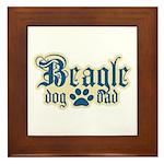 Beagle Dad Framed Tile
