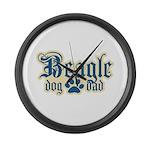 Beagle Dad Large Wall Clock