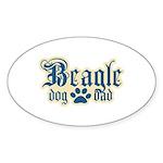 Beagle Dad Sticker (Oval 10 pk)