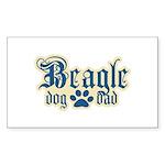 Beagle Dad Sticker (Rectangle 10 pk)