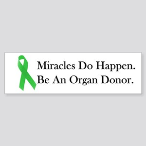 Green Ribbon Miracle Bumper Sticker