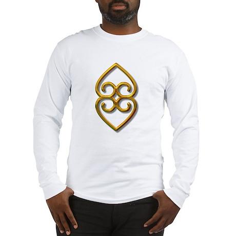 Adinkra Symbol - Earth- gold Long Sleeve T-Shirt