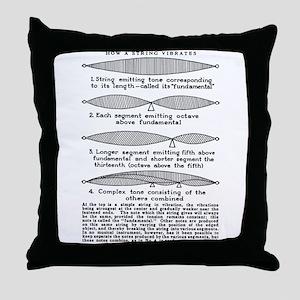 """Vibrating String"" Throw Pillow"