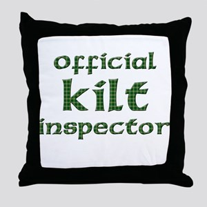Official Kilt Inspector Throw Pillow