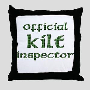 Official Kilt Inspector Throw Pillow