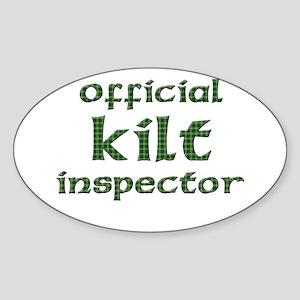 Official Kilt Inspector Oval Sticker