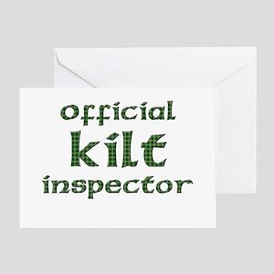 Official Kilt Inspector Greeting Card