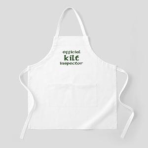 Official Kilt Inspector BBQ Apron