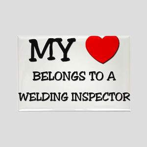 My Heart Belongs To A WELDING INSPECTOR Rectangle