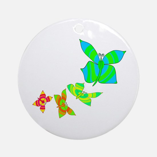 Butterfly Rainbow Ornament (Round)