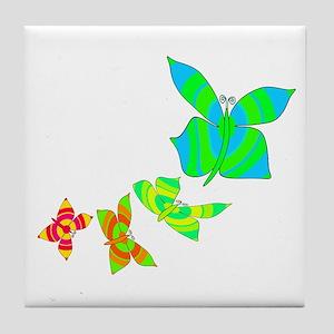 Butterfly Rainbow Tile Coaster