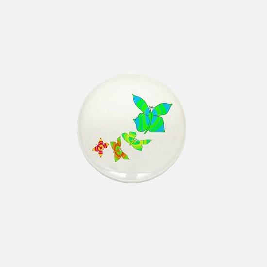 Butterfly Rainbow Mini Button