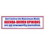Agenda-Driven Media Opinions Bumper Sticker