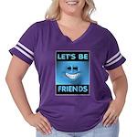 FRIENDS Women's Plus Size Football T-Shirt