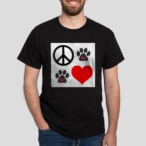 Dogs: Peace, Love & TLC Dark T-Shirt