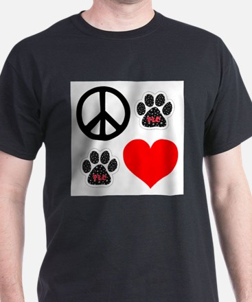 Dogs: Peace, Love & TLC T-Shirt