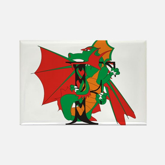 Dragon F Rectangle Magnet