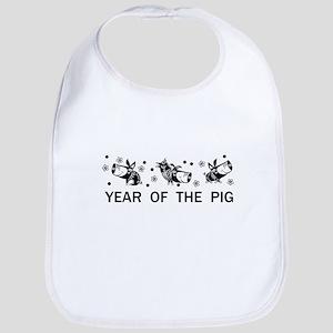 Year of the Pig Baby Bib