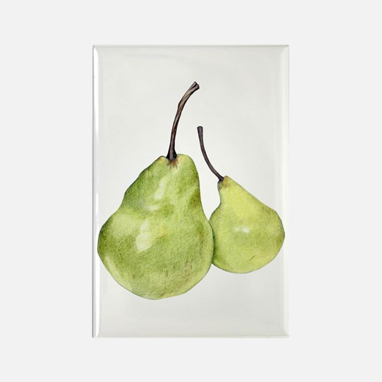 Two Green Pears Rectangle Magnet (10 pack)