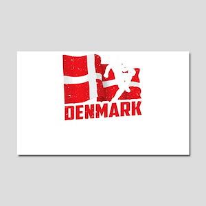 Football Worldcup Denmark Danes Car Magnet 20 x 12