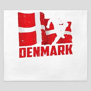 Football Worldcup Denmark Danes Soccer King Duvet