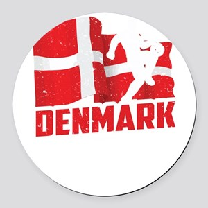 Football Worldcup Denmark Danes S Round Car Magnet