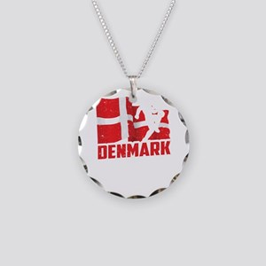 Football Worldcup Denmark Da Necklace Circle Charm